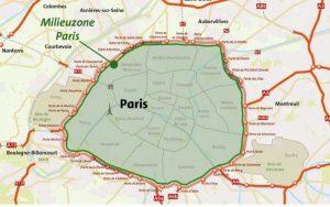 Vergeet de milieusticker niet als je naar Frankrijk gaat